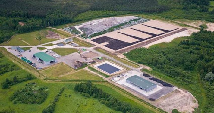Landfill drone image